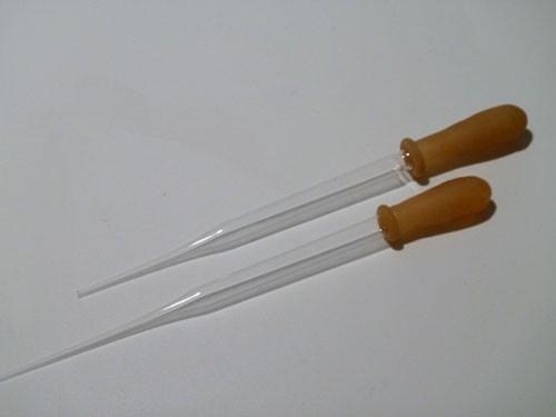 Glaspipette mit Kautschuksauger für Whisk(e)y