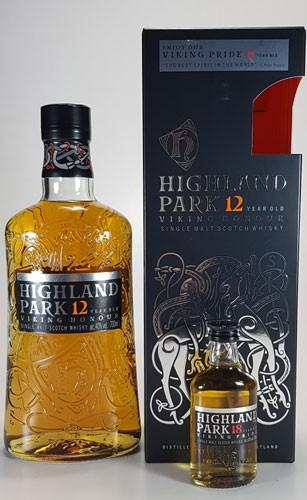 Highland Park 12 y.o. + 1x Miniatur Highland Park 18