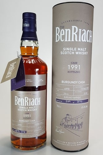 BenRiach 26 y.o. 1991 Batch #15 Cask #6898 Burgundy Cask