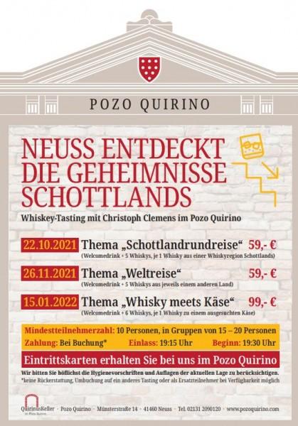 """Whisky meets Käse im Quirinuskeller"" 15.01.2022"