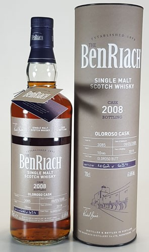 BenRiach 10 y.o. Batch #16 Cask 3085 Oloroso Butt