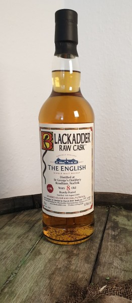 The English 8 y.o. heavily peated Blackadder Raw Cask